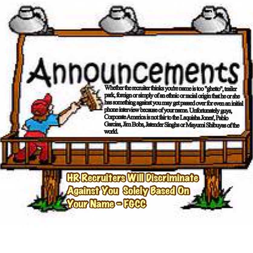 How employers discriminate against. Announcement clipart job announcement