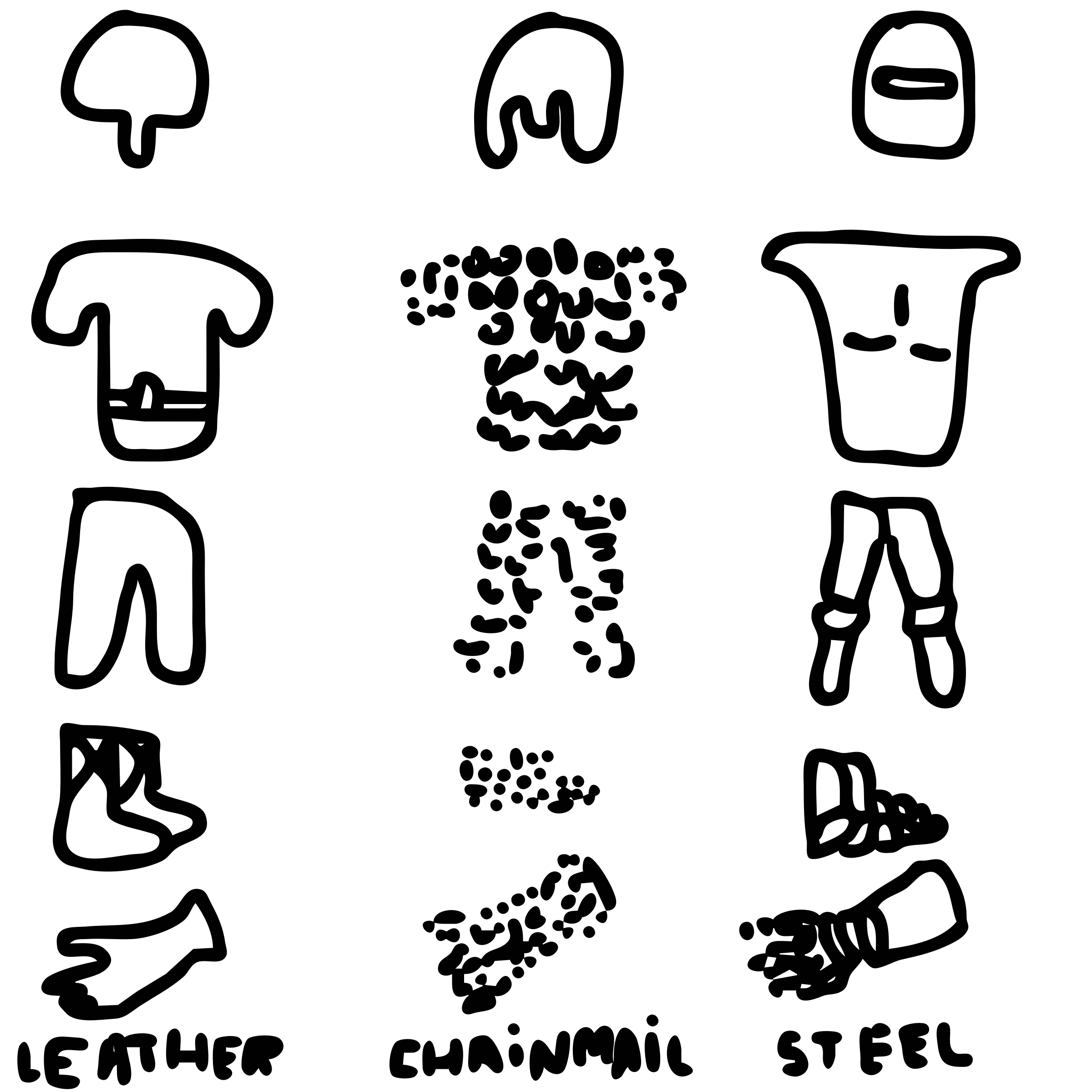 Dailysketch body armor parts. Announcement clipart medieval