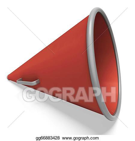 Stock illustration loud hailer. Announcement clipart megaphone