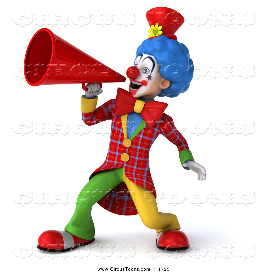 Announcement clipart megaphone. Circus of a d
