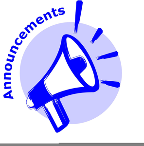 Announcement clipart megaphone. Free images at clker