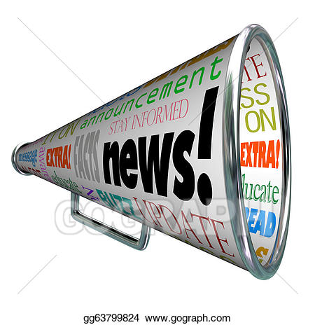 Stock illustration bullhorn megaphone. Announcements clipart news announcement