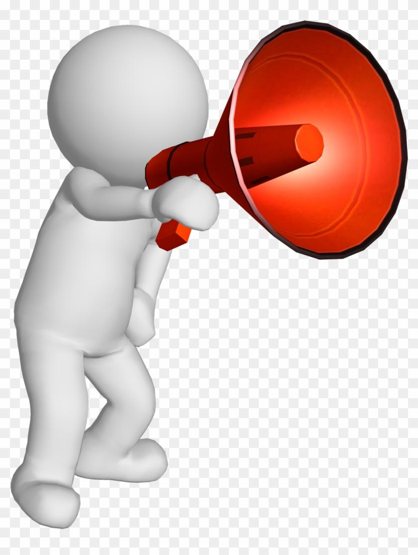 Announcement clipart megaphone. Morning bubble people clip