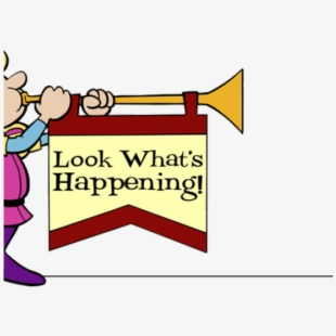 Announcements clipart special announcement. Happening looking out the