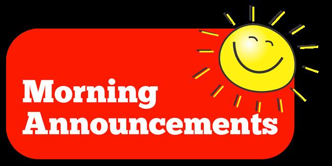 Announcements . Announcement clipart morning announcement