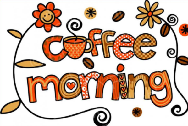 Announcement clipart morning announcement. Coffee olly our lost