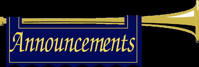 The top best blogs. Announcements clipart morning announcement