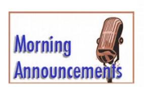 Announcements clipart morning announcement. Carter middle school