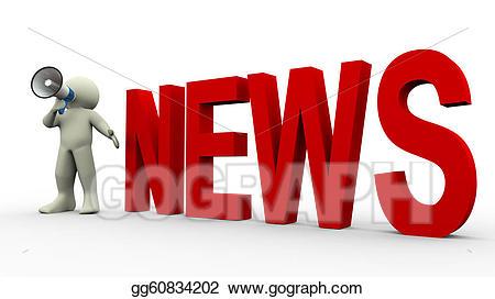 Drawing d man . Announcement clipart news announcement