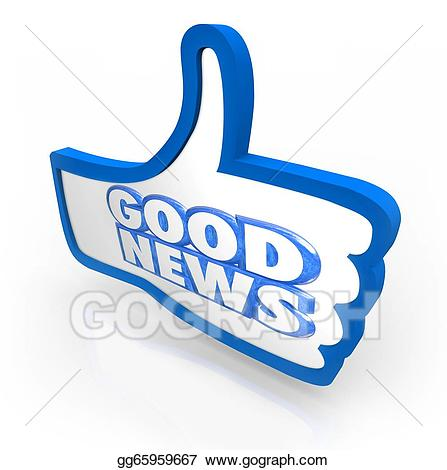 Drawing good thumbs up. Announcement clipart news announcement
