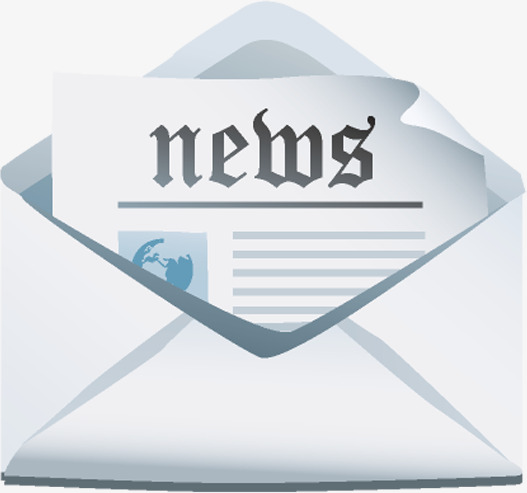 Announcement clipart newsletter. Vector news center png