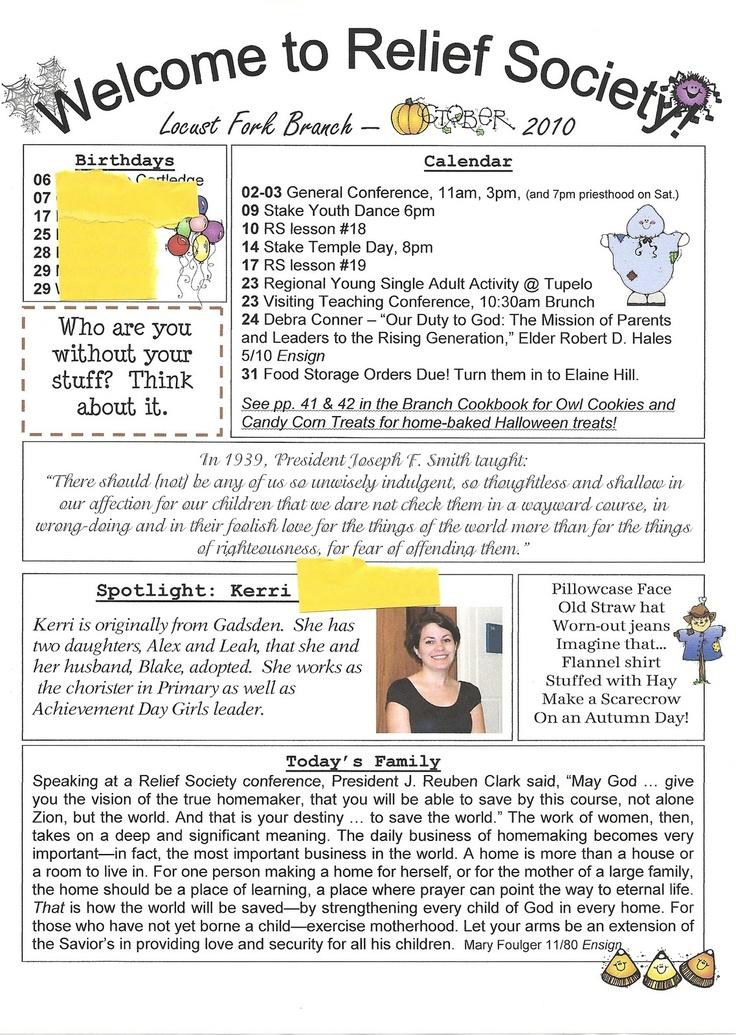 Announcement clipart newsletter.  best lds ward
