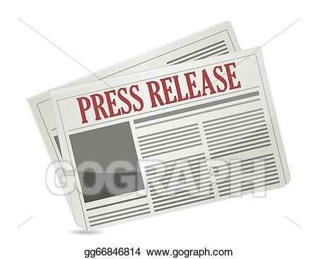 Announcement clipart newspaper. Vector art press release