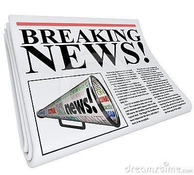 Unique announcement breaking news. Announcements clipart newspaper