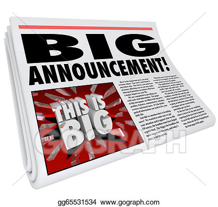 Announcement clipart newspaper. Stock illustration headline big