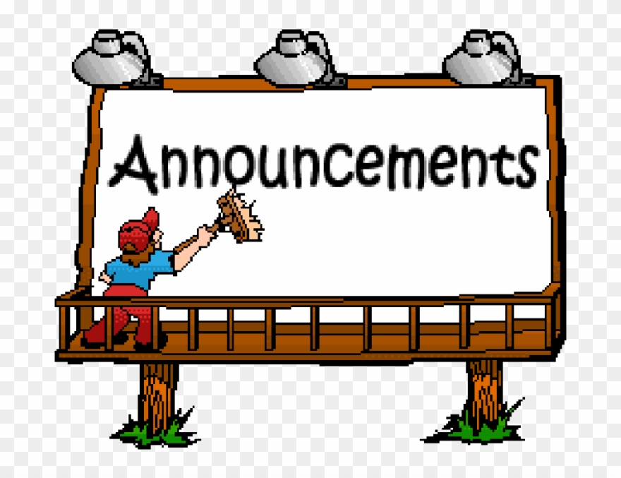 Announcement clipart project. Image library stock announcements