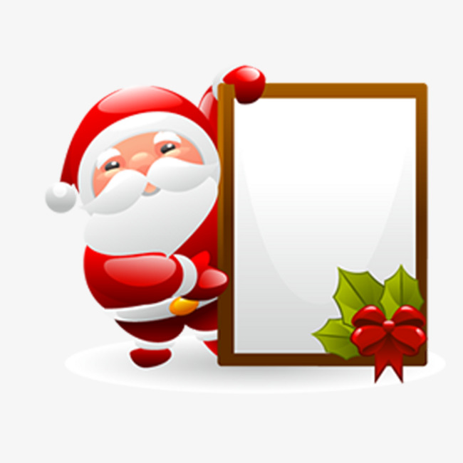 Announcements clipart publicity. Santa claus card cartoon