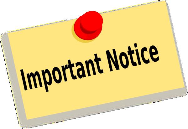 Announcement clipart reminder. Important after school activities