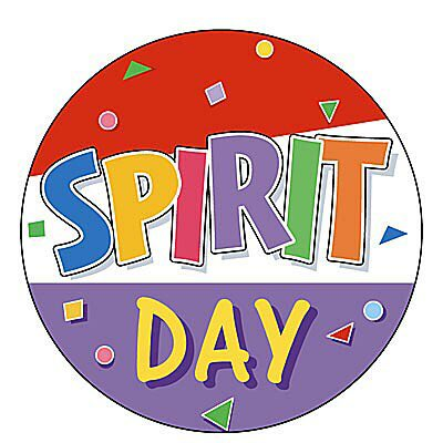 Announcement clipart school spirit. Day is on friday