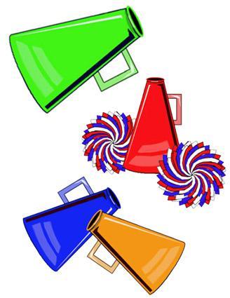 Megaphone . Announcements clipart school spirit