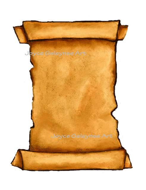 Clip art old freehand. Announcements clipart scroll