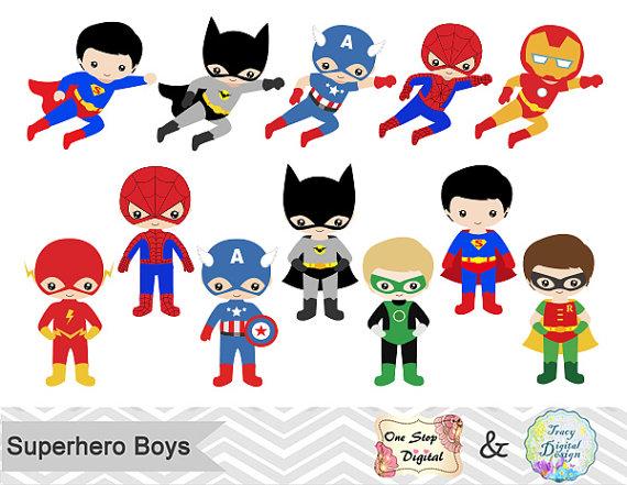 Announcement clipart superhero.  boys digital clip