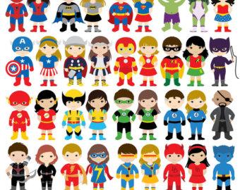 Super hero etsy kids. Announcement clipart superhero