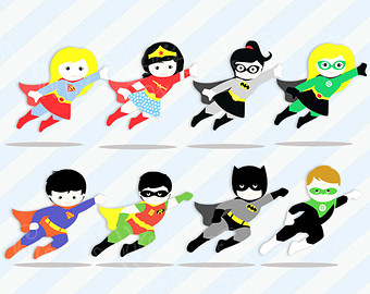 Flying super hero etsy. Announcement clipart superhero