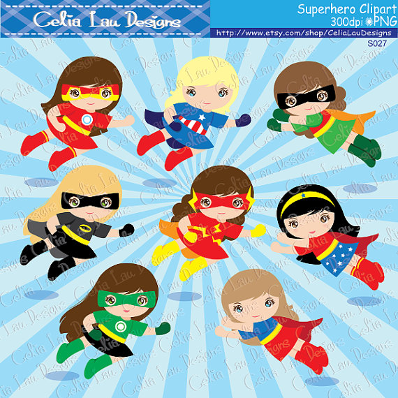 Announcement clipart superhero. Girls clip art super