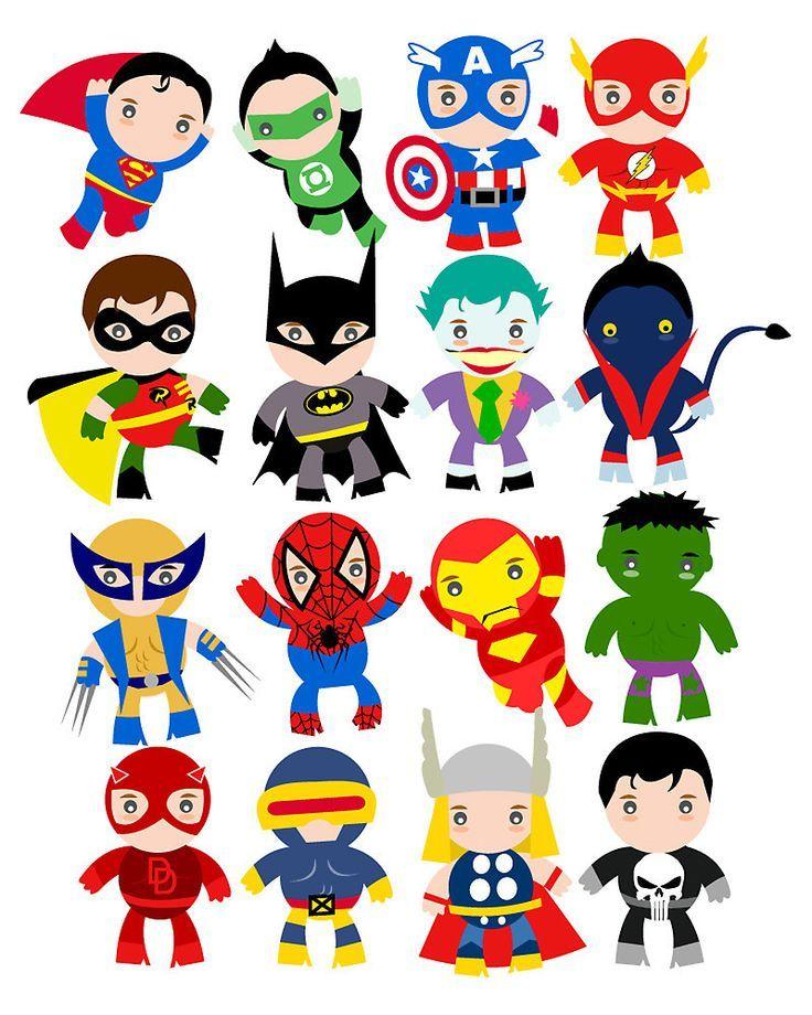 Free party decoration printables. Announcement clipart superhero