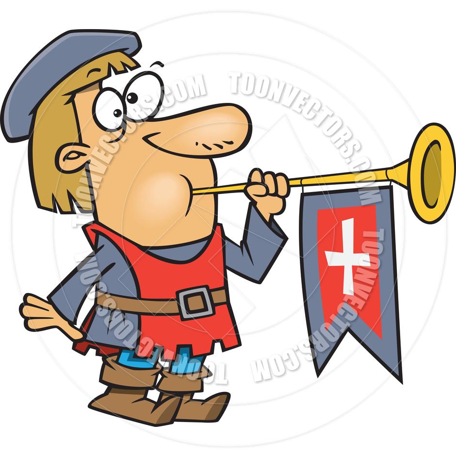 Herald cliparts medeival heralding. Announcement clipart trumpet