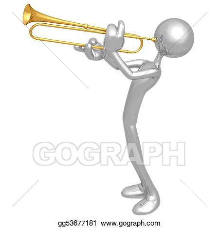Announcement clipart trumpet. Stock illustrations gg