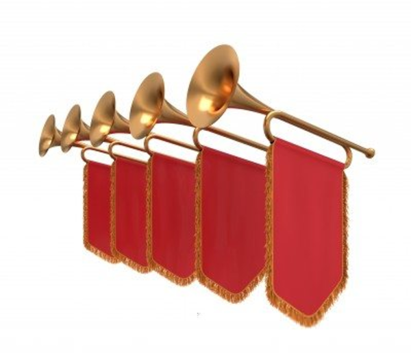 Announcement clipart trumpet. Free images at clker