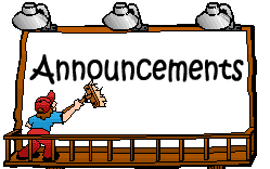 Announcements clipart. Pto upcoming events below