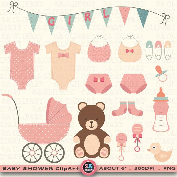 Announcement clipart vintage. Baby shower clip art