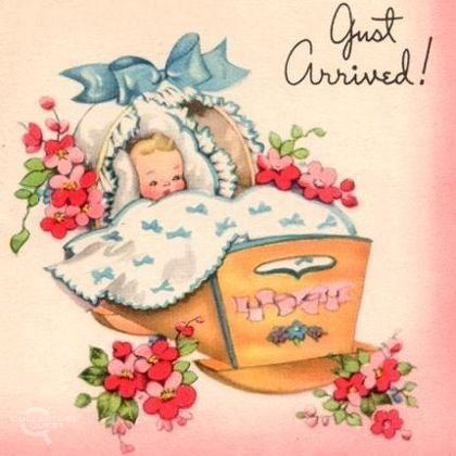 best baby congratlation. Announcement clipart vintage