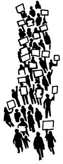 Announcements clipart activist. Clip art for activists