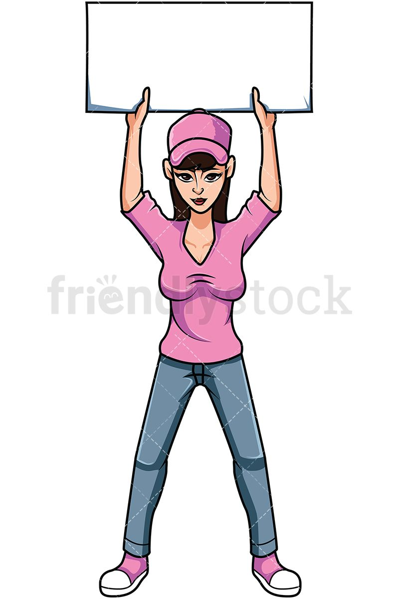 Young during rally cartoon. Announcements clipart activist
