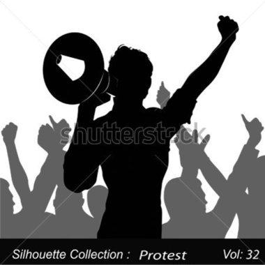 Protester panda free images. Announcements clipart activist