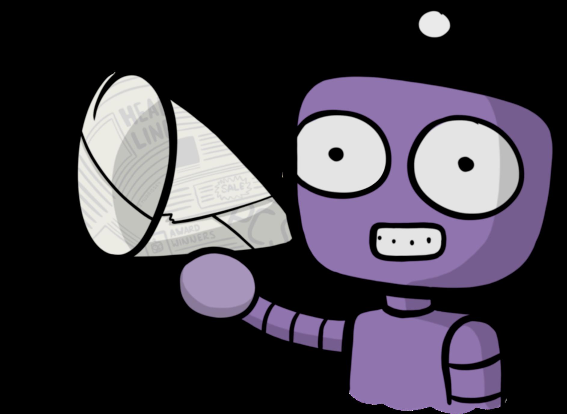 Announcement purple cartoon png. Announcements clipart annoucement