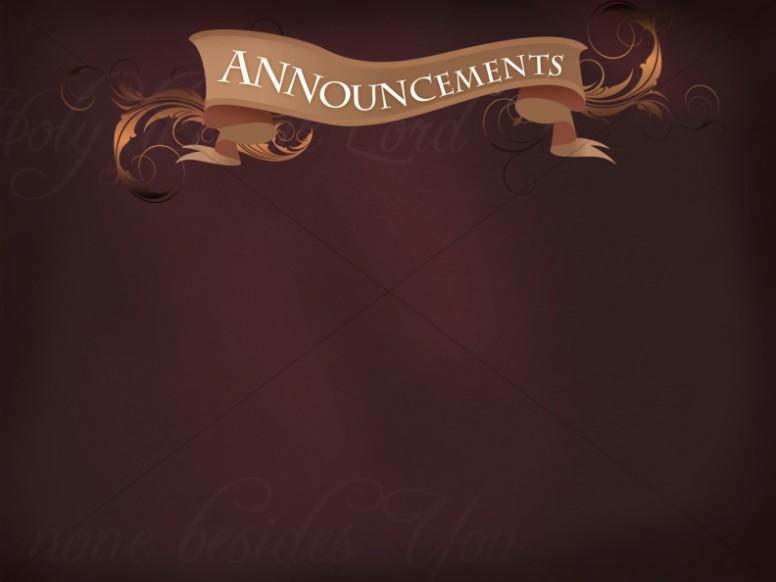 Announcements clipart announcement banner. Church backgrounds sharefaith page