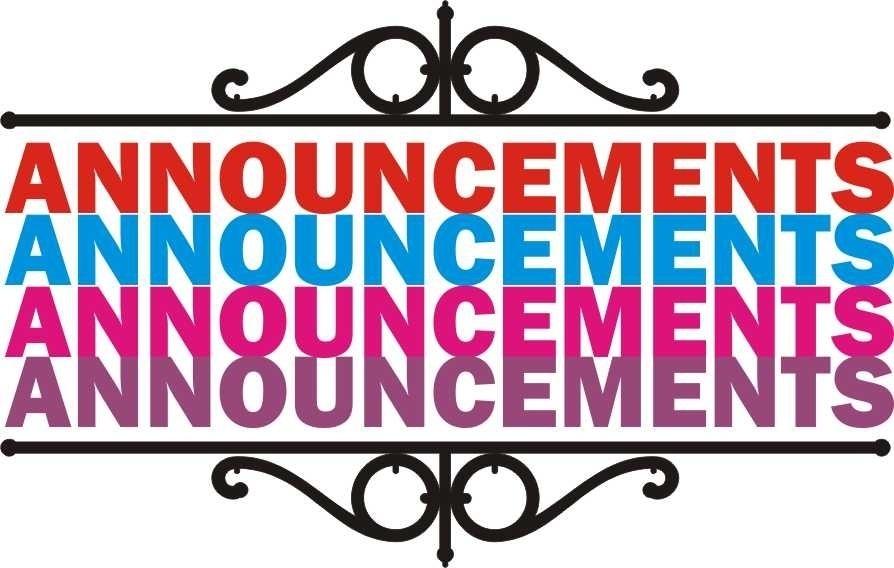 Cilpart stylish design ideas. Announcements clipart announcement banner