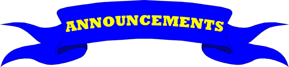 Announcements clipart announcement banner. Byron nelson high school