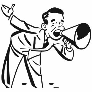 Free megaphone clip art. Announcements clipart announcement banner