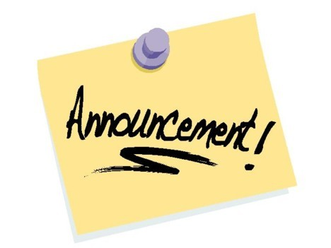 Image of announce clip. Announcements clipart announcement board