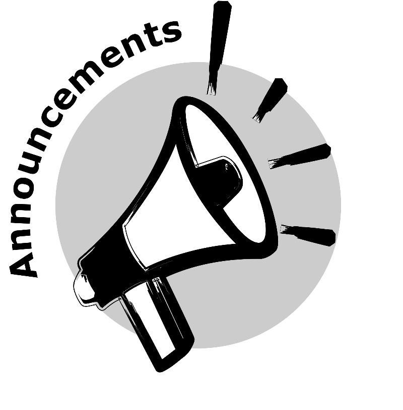 Spring runoff rundown has. Announcements clipart black and white
