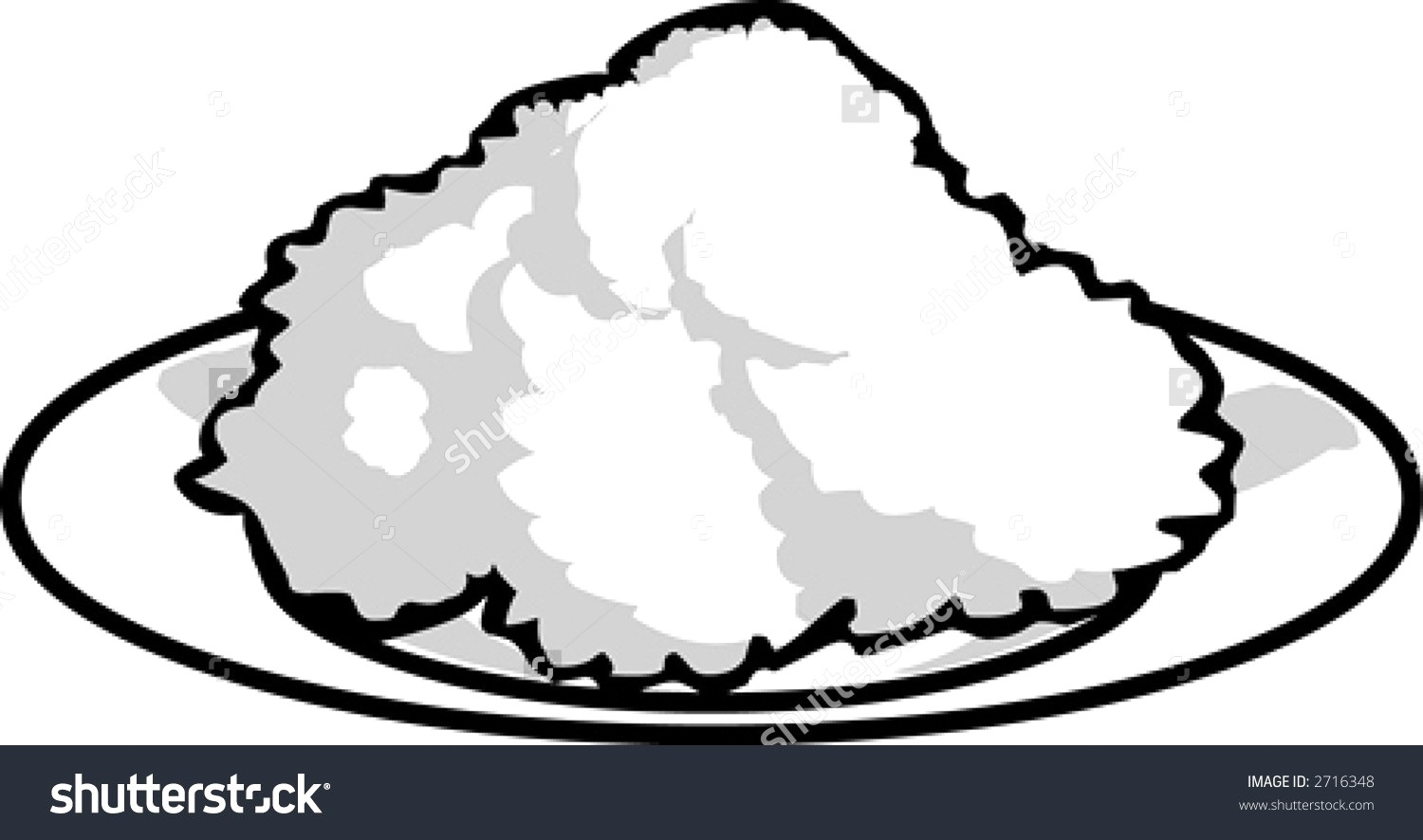 Announcements clipart black and white. Plate of rice hd