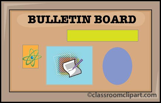 School board . Announcements clipart bulletin