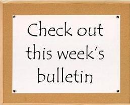 Free church tags. Announcements clipart bulletin