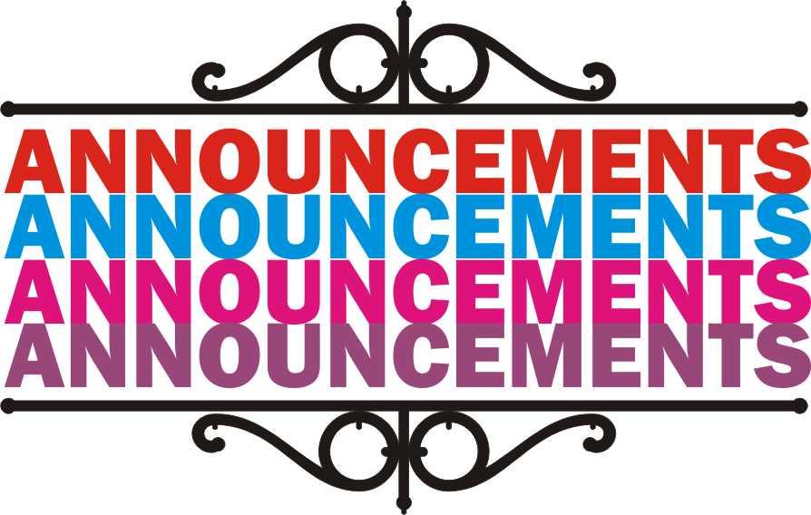 Announcement clipart church. Bulletin clip art free